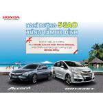 Nghỉ dưỡng 5 sao với Honda Accord và Honda Odyssey