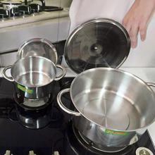 Bộ 3 nồi inox Fujishi FJ-09IN nấu được trên bếp từ