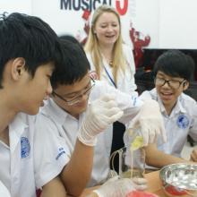 Môi trường giáo dục quốc tế giúp học sinh sáng tạo