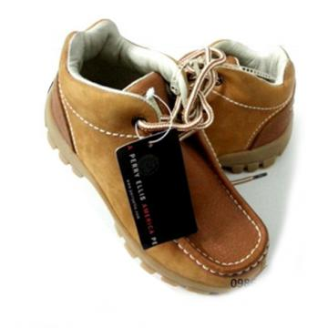 Giày da Perry Ellis America Leather Boot Style Shoes Boys
