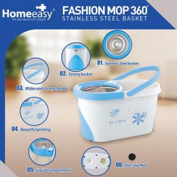 Fashion mop - Bộ lau sàn 360 độ (tím)