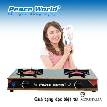 Tặng bộ dao Cucina khi mua bếp gas hồng ngoại Peace World