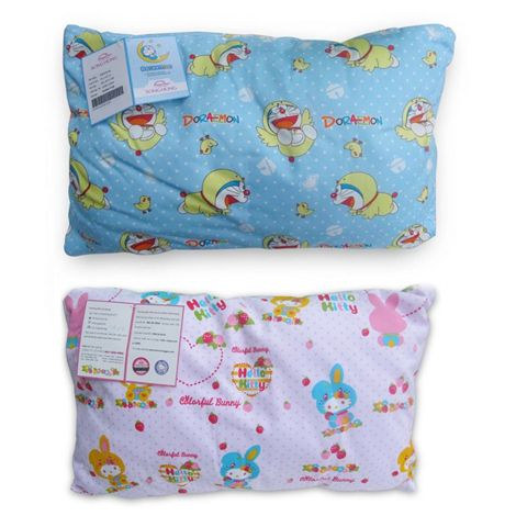 Gối trẻ em Doraemon và Hello Kitty 100% Cotton