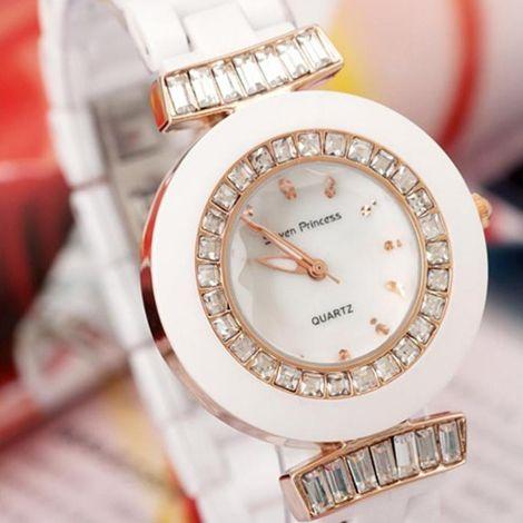 Đồng hồ nữ dây đá Seven chống nước nhẹ