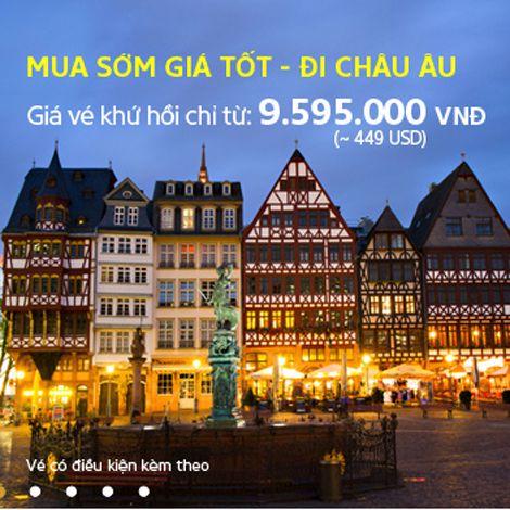 Vé khứ hồi đi châu Âu chỉ từ 9,5 triệu đồng tại Skytour