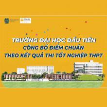 Nóng - Trường ĐH đầu tiên công bố điểm chuẩn trúng tuyển bằng kết quả thi tốt nghiệp THPT
