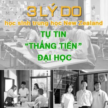 3 lý do học sinh trung học New Zealand tự tin thẳng tiến đại học