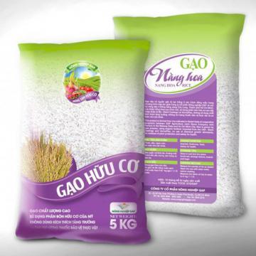 Gạo hữu cơ Nàng Hoa 9 giao hàng toàn quốc