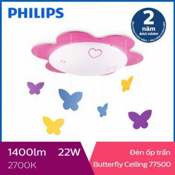 Đèn ốp trần phòng trẻ em Philips LED Butterfly 77500 22W