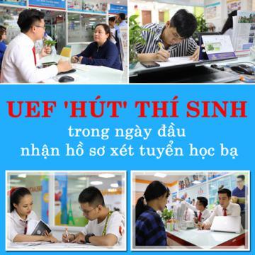 UEF hút thí sinh trong ngày đầu nhận hồ sơ xét tuyển học bạ