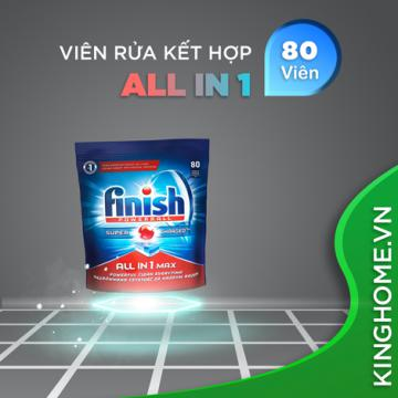 Viên rửa bát Finish All In One Max 80 viên