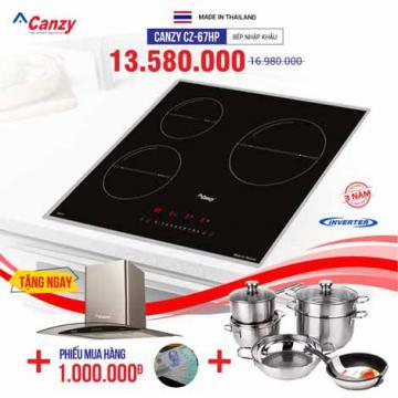 Bếp từ 3 lò cảm ứng Canzy CZ-67HP
