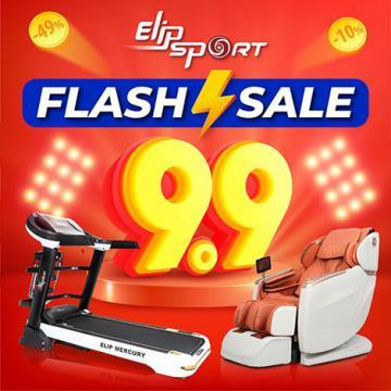 Flash Sale 9.9 - Máy chạy bộ, ghế massage Elipsport giảm khủng đến 50%