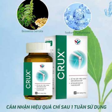 Giúp giảm đau, kháng viêm, ngừa thoái hóa sụn khớp với Crux