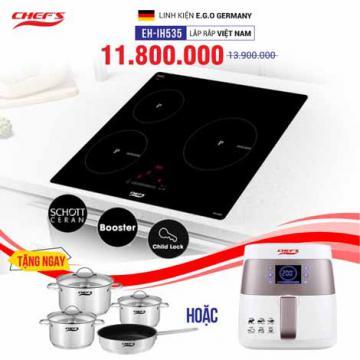 Bếp từ 3 lò Chefs cảm ứng CHEFS EH-IH535