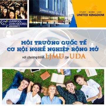 Môi trường quốc tế, cơ hội nghề nghiệp rộng mở với chương trình LJMU tại UDA