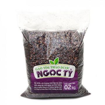 Gạo tím thảo dược Ngọc Tỷ 2 x 2kg