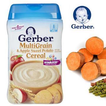 Bột ăn dặm Gerber vị Ngũ cốc & Táo Khoai