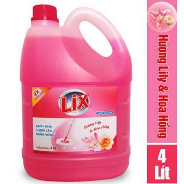 Nước lau sàn Lix hương hoa 4 lít khuyến mãi 55 ngàn