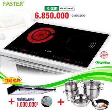 Xả kho bếp từ đôi hồng ngoại FASTER FS-688HI giá từ 3.750.000đ