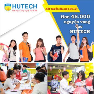 Xét tuyển đại học 2019 - hơn 45.000 nguyện vọng vào HUTECH