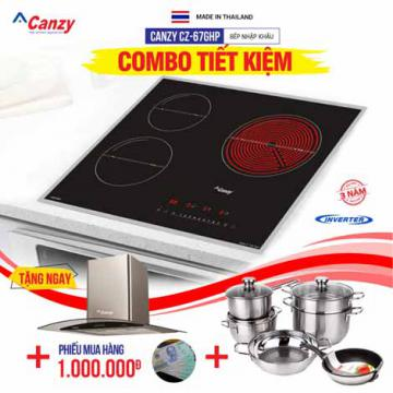 Bếp từ đôi hồng ngoại 3 lò Canzy CZ-67GHP