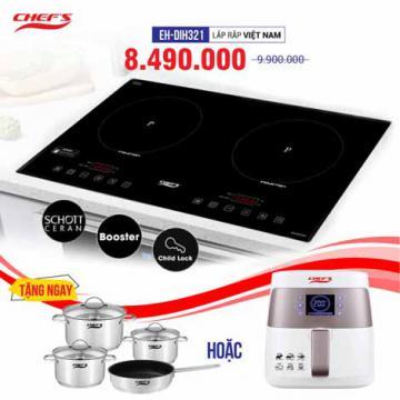 Bếp từ CHEFS 2 lò cảm ứng EH-DIH321