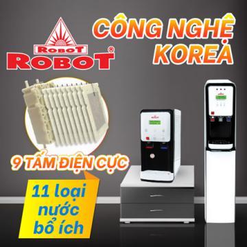 Máy lọc nước điện giải nóng lạnh duy nhất ở ROBOT có gì mới?