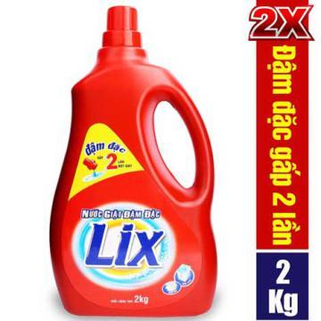 Xả kho nước giặt Lix đậm đặc hương hoa 2kg khuyến mãi lần 2