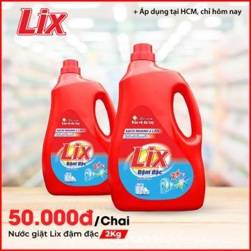 Nước giặt Lix đậm đặc hương hoa 2Kg
