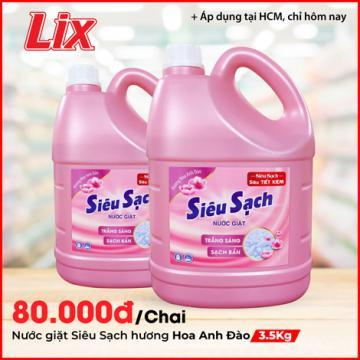 Nước giặt Lix hương hoa Anh Đào 3.5Kg