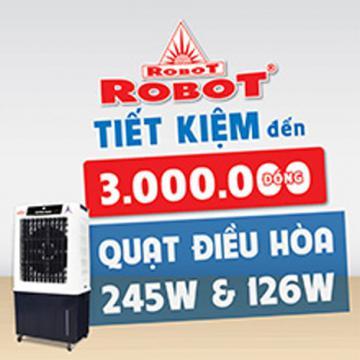 Quạt điều hòa Robot, thùng nước rời siêu tiện lợi