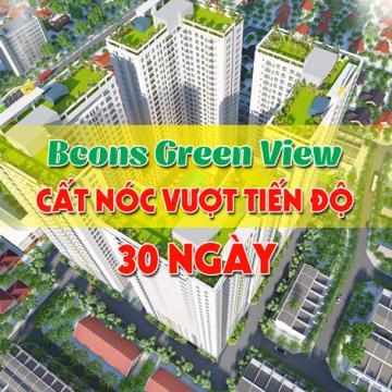 Bcons Green View cất nóc vượt tiến độ 30 ngày