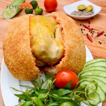Món gà bó xôi ngon tại Flyfood