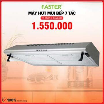 Xả kho máy hút mùi 7 tấc Faster FS-0470S giá 1.550.000đ