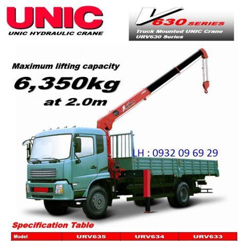 Cẩu Unic 6 tấn 5 khúc Nhật Bản V630 Series
