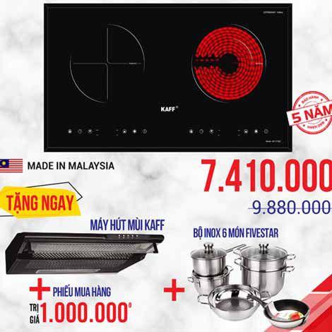 Bếp điện từ KAFF nhập khẩu Malaysia, Germany khuyến mãi