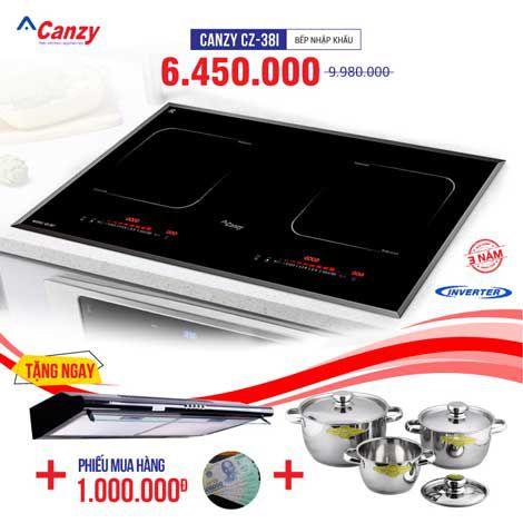 Xả kho bếp từ đôi CANZY CZ-38I chỉ từ 3.650.000đ