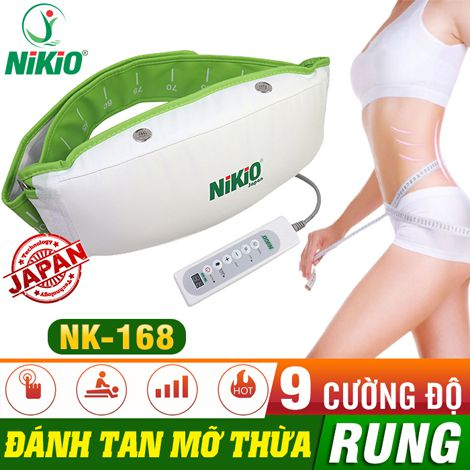 Đai massage giúp giảm mỡ bụng Nikio NK-168 rung và nóng