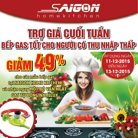 Giảm 49% khi mua bếp gas tại Saigon Home Kitchen