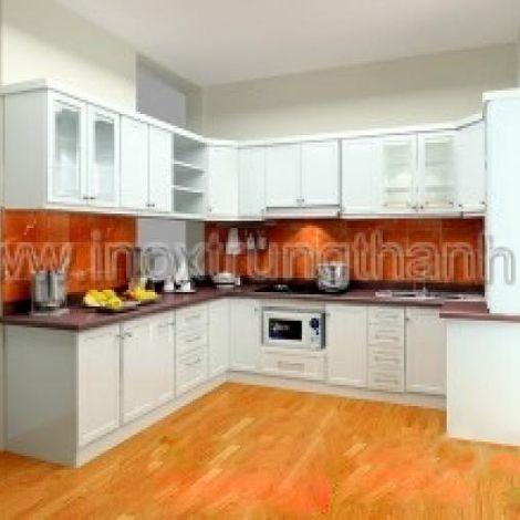 Thiết kế nội thất nhà bếp - Tủ bếp inox theo yêu cầu