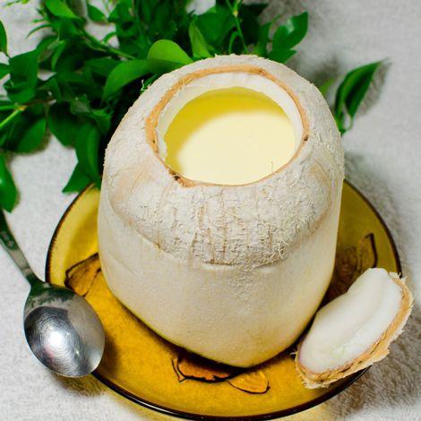 Bánh flan trái dừa tươi
