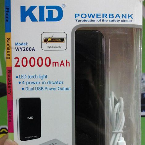 Pin sạc dự phòng KID 20000mAh