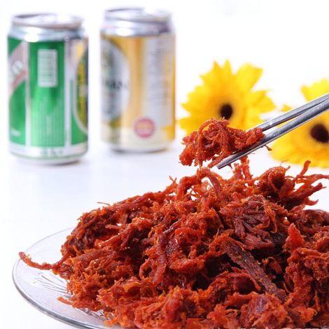 Khô bò xé sợi tẩm gia vị 500g - 100% Thịt thăn bò tươi