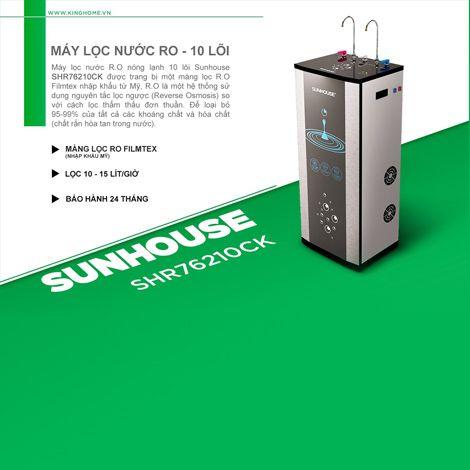 Siêu giảm giá máy lọc nước nóng lạnh RO 10 lõi Sunhouse SHR76210CK