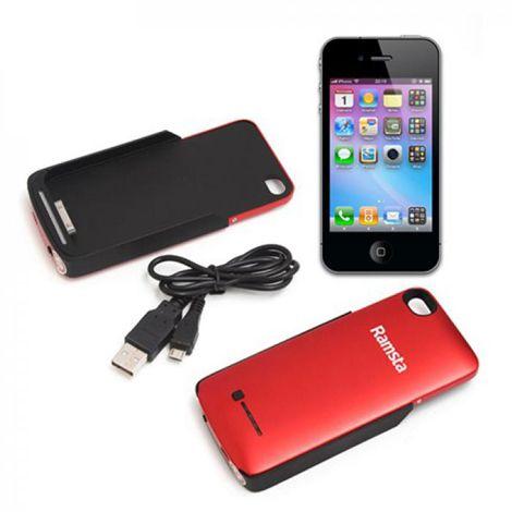 Ốp lưng iPhone 4s Ramsta kiêm sạc dự phòng đa năng