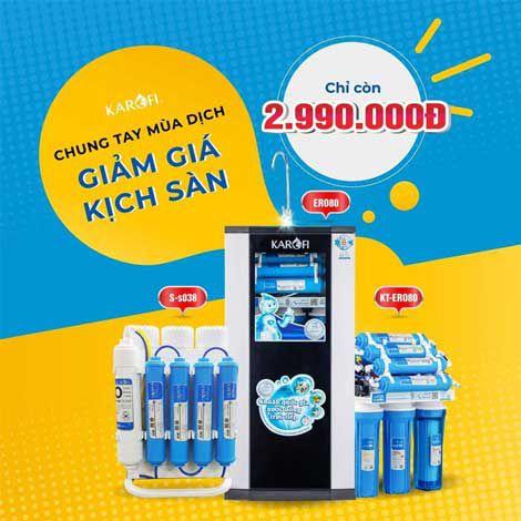 Xả kho máy lọc nước RO KAROFI ERO ERO80 (8 cấp lọc) giá KM 2.990.000đ