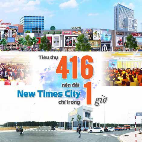 Tiêu thụ 416 nền đất New Times City chỉ trong một giờ