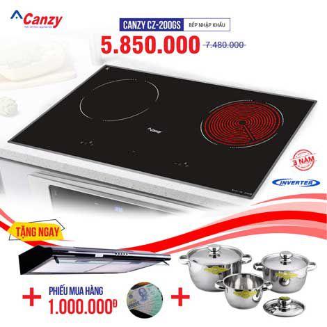 Bếp từ đôi hồng ngoại 2 lò cảm ứng CANZY CZ-200GS
