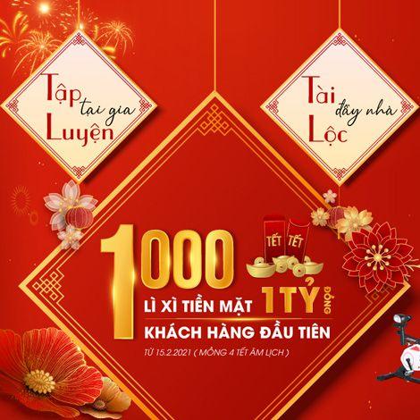 1000 bao lì xì chào Xuân Tân Sửu dành cho các khách hàng đầu tiên, giá trị lên đến 1 tỷ